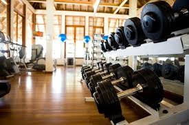 gym and dumbell